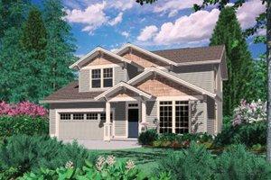 Craftsman Exterior - Front Elevation Plan #48-520
