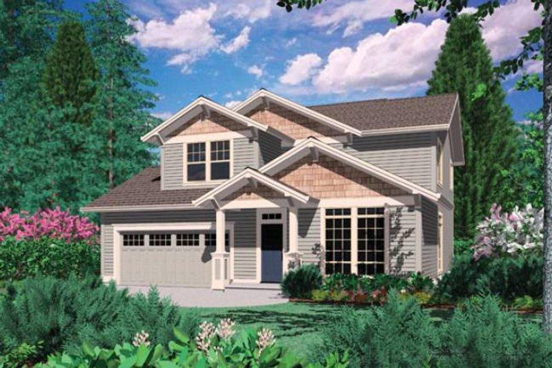 Home Plan - Craftsman Exterior - Front Elevation Plan #48-520
