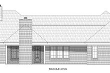 Country Exterior - Rear Elevation Plan #932-294