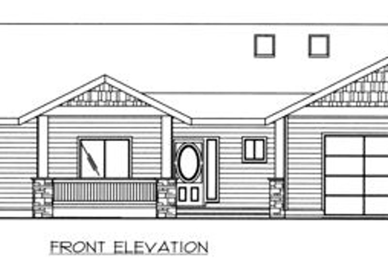 Ranch Exterior - Other Elevation Plan #117-575 - Houseplans.com