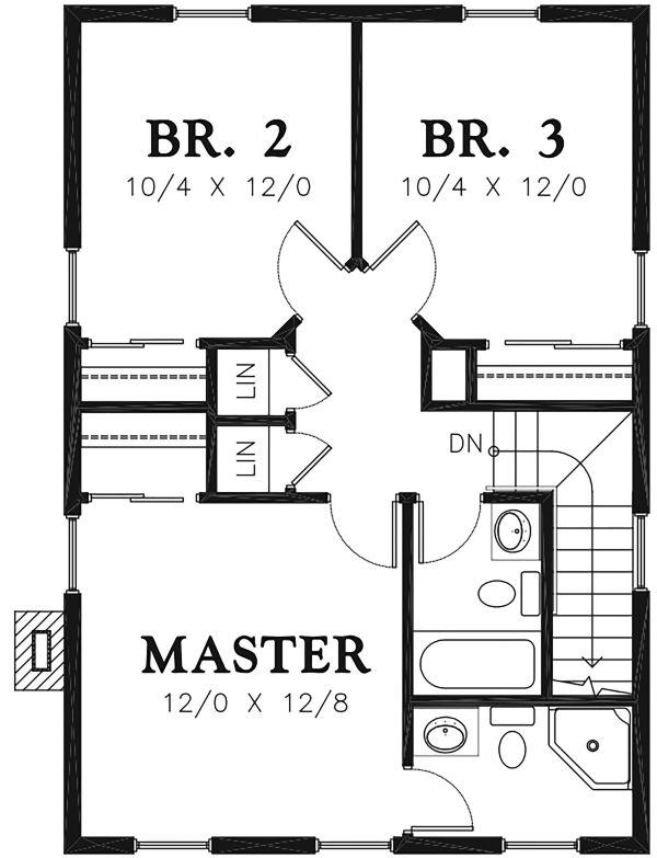 Colonial Floor Plan - Main Floor Plan Plan #48-976