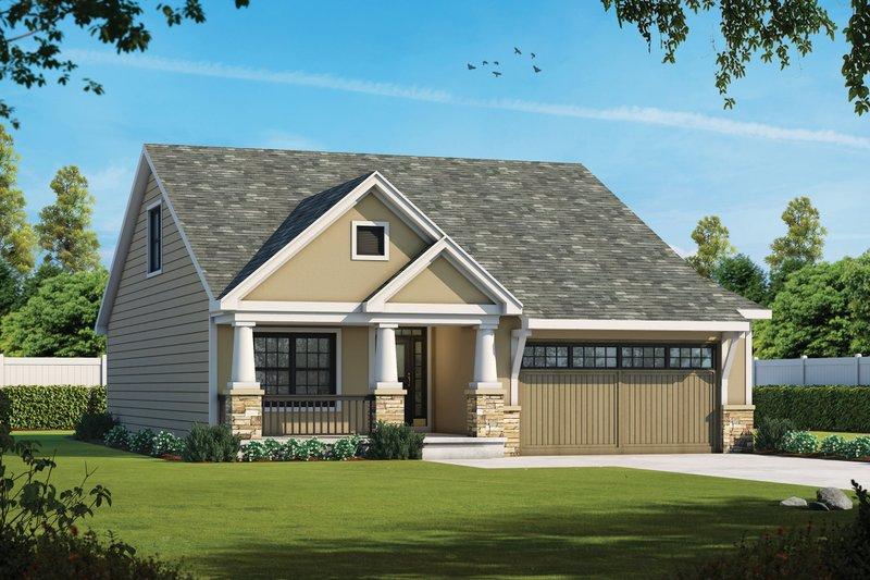 House Plan Design - Ranch Exterior - Front Elevation Plan #20-2313