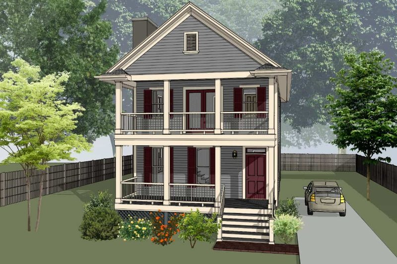 Dream House Plan - Southern Exterior - Front Elevation Plan #79-199