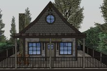 Home Plan Design - Cabin Exterior - Rear Elevation Plan #123-115
