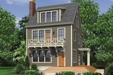 Dream House Plan - Colonial Exterior - Front Elevation Plan #48-1008