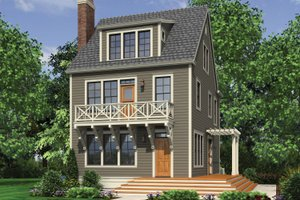 Colonial Exterior - Front Elevation Plan #48-1008