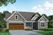 Craftsman Style House Plan - 3 Beds 2 Baths 1369 Sq/Ft Plan #929-1105 Exterior - Front Elevation