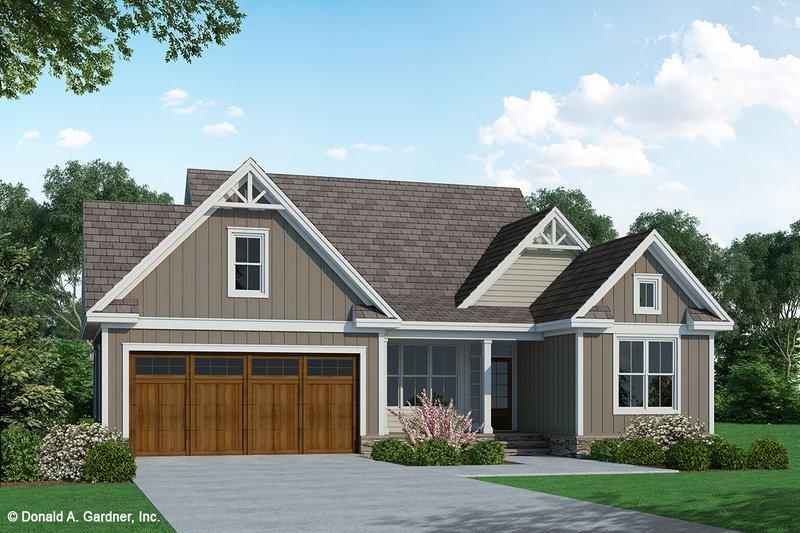 Architectural House Design - Craftsman Exterior - Front Elevation Plan #929-1105