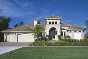 Mediterranean Style House Plan - 4 Beds 3 Baths 2908 Sq/Ft Plan #930-14 Exterior - Front Elevation