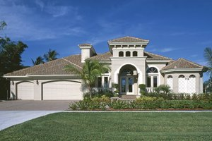 Mediterranean Exterior - Front Elevation Plan #930-14