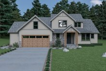 Architectural House Design - Craftsman Exterior - Front Elevation Plan #1070-64