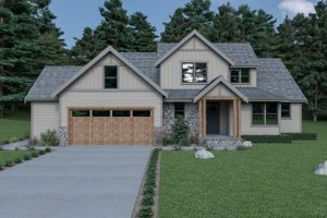 Craftsman Exterior - Front Elevation Plan #1070-64