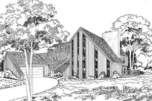 Contemporary Exterior - Front Elevation Plan #312-768