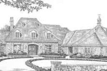 European Exterior - Front Elevation Plan #310-522
