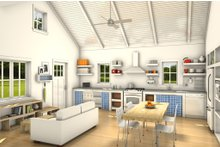 Cottage Interior - Kitchen Plan #497-23