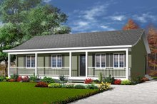 Home Plan - Ranch Exterior - Front Elevation Plan #23-676