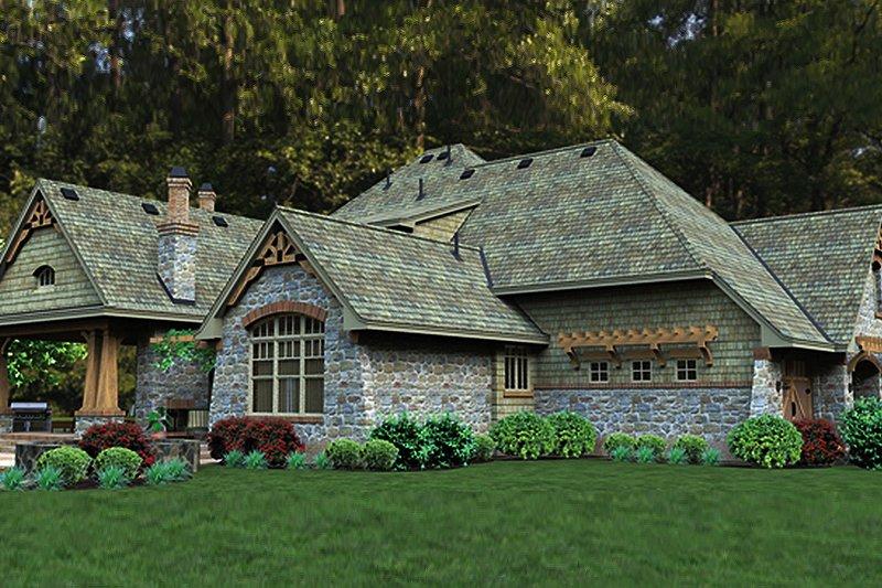 Craftsman Exterior - Rear Elevation Plan #120-247 - Houseplans.com