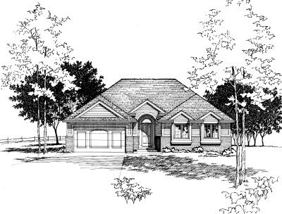 Traditional Exterior - Front Elevation Plan #20-151 - Houseplans.com