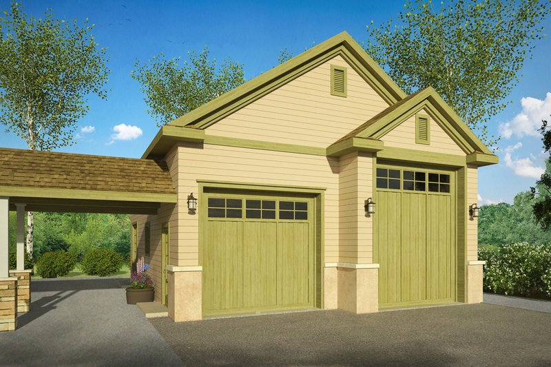 Traditional Style House Plan - 0 Beds 0 Baths 1078 Sq/Ft Plan #124-990 Exterior - Front Elevation
