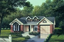 Architectural House Design - Traditional Exterior - Front Elevation Plan #57-152