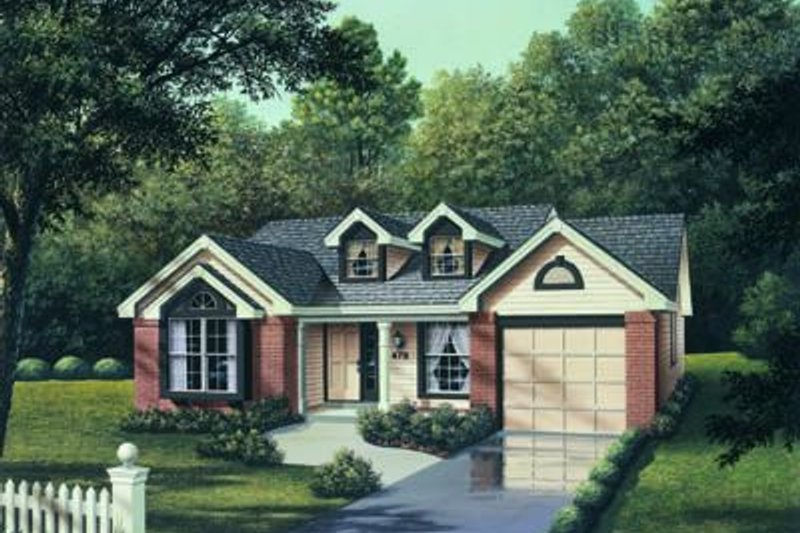 Traditional Exterior - Front Elevation Plan #57-152 - Houseplans.com