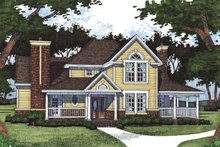 Country Exterior - Front Elevation Plan #120-140
