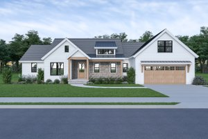 Farmhouse Exterior - Front Elevation Plan #1070-91