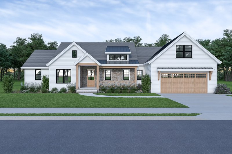 House Plan Design - Farmhouse Exterior - Front Elevation Plan #1070-91