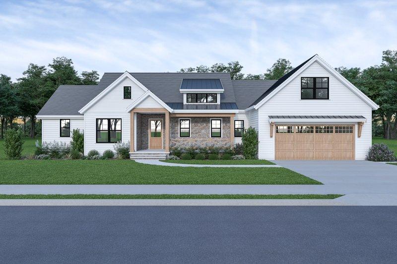 Home Plan - Farmhouse Exterior - Front Elevation Plan #1070-91