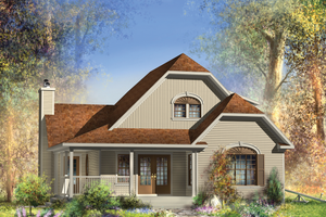 Country Exterior - Front Elevation Plan #25-4744