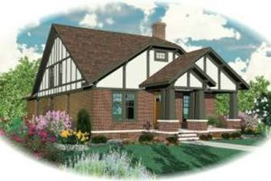 Tudor Exterior - Front Elevation Plan #81-422