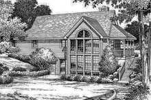 Dream House Plan - Traditional Exterior - Rear Elevation Plan #57-185