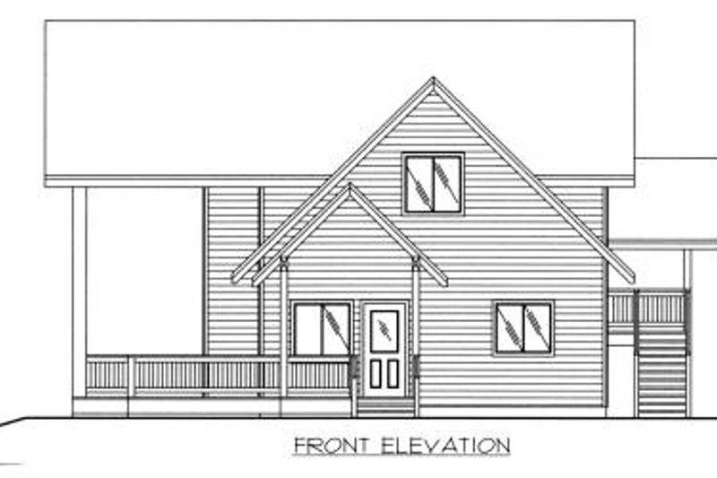 Bungalow Exterior - Other Elevation Plan #117-525 - Houseplans.com