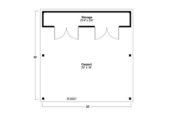 Traditional Floor Plan - Main Floor Plan #124-1234