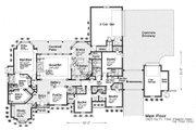 European Style House Plan - 4 Beds 4.5 Baths 3423 Sq/Ft Plan #310-230 Floor Plan - Main Floor
