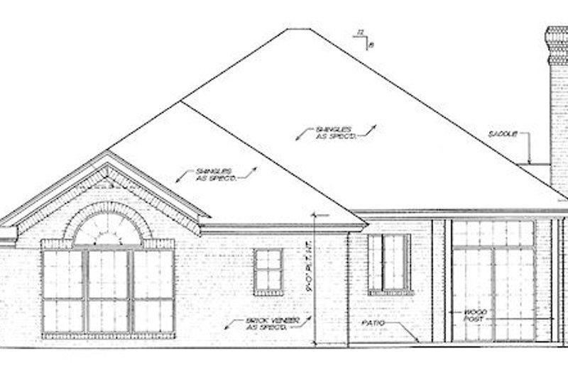 Traditional Exterior - Rear Elevation Plan #310-139 - Houseplans.com