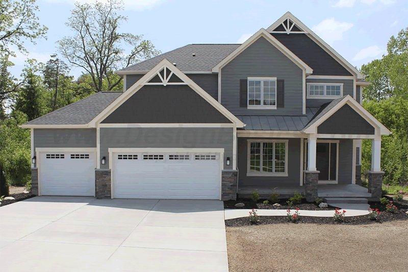 Craftsman Exterior - Front Elevation Plan #20-2127