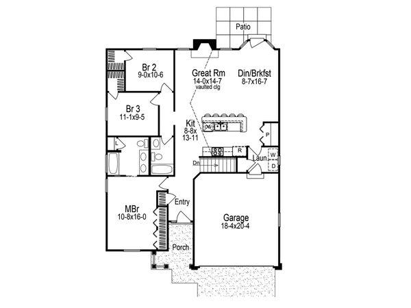 Home Plan - Craftsman Floor Plan - Main Floor Plan #57-671