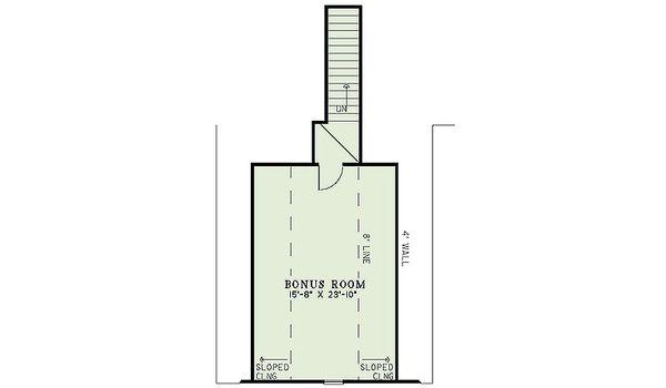European Floor Plan - Upper Floor Plan Plan #17-2482