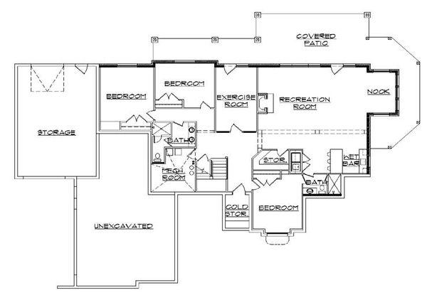 House Plan Design - European Floor Plan - Lower Floor Plan #5-365