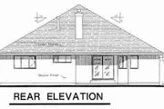 Traditional Style House Plan - 2 Beds 2 Baths 2114 Sq/Ft Plan #18-9064 Exterior - Rear Elevation