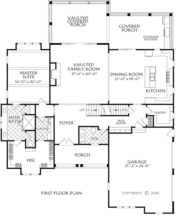 Farmhouse Floor Plan - Main Floor Plan Plan #927-1000