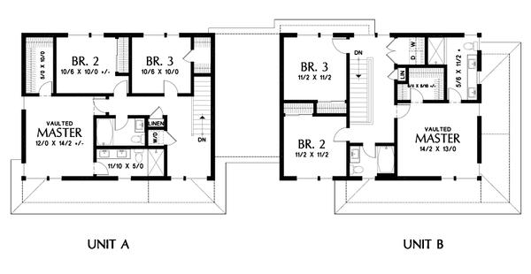 Dream House Plan - Contemporary Floor Plan - Upper Floor Plan #48-1026
