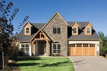 Dream House Plan - Craftsman Style home, bungalow design, elevation