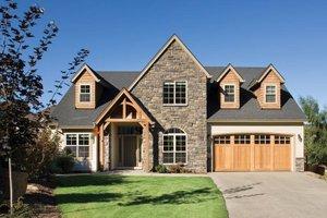 House Blueprint - Craftsman Style home, bungalow design, elevation
