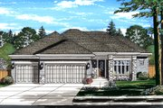 Ranch Style House Plan - 3 Beds 2 Baths 2099 Sq/Ft Plan #46-876 Exterior - Front Elevation
