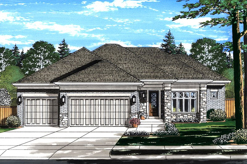 Home Plan - Ranch Exterior - Front Elevation Plan #46-876