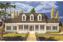 Dream House Plan - Colonial Exterior - Front Elevation Plan #3-236