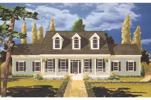 Colonial Exterior - Front Elevation Plan #3-236