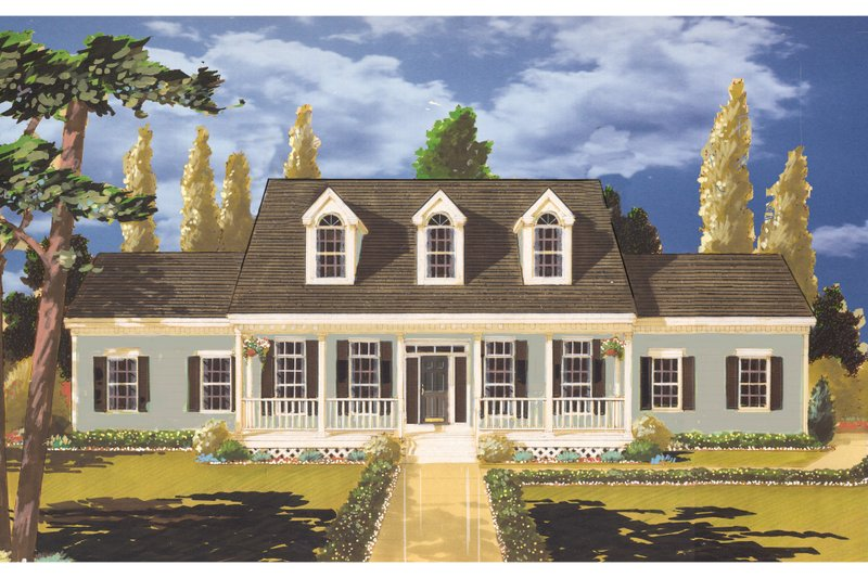Colonial Style House Plan - 4 Beds 2.5 Baths 2210 Sq/Ft Plan #3-236 Exterior - Front Elevation